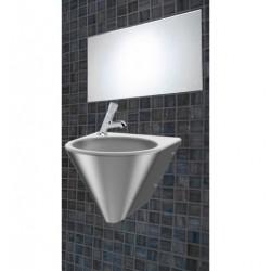Vandálbiztos szett, mosdóval, csappal és rozsdamentes tükörrel