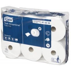 Tork SmartOne® MIDI - Pont adagolású nagy-tekercses toalettpapír 20 cm