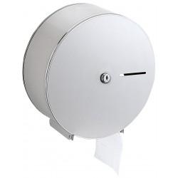 Nagytekercses, közületi WC-papír tartó, r.m. acél, selyem matt
