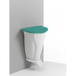 WALL-UP falra szerelhető szemetes zöld-fehér 00005840WV